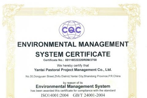 ISO环境管理体系认证证书(英文)